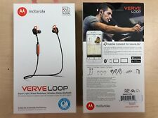 Motorola Verve Loop Water Resistant Bluetooth Wireless Stereo Headphones Orange