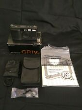Mint Ricoh GR1v Point & Shoot 35mm Film Camera + Packaging & Original Paperwork