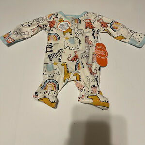 """NEW ~ """"ANIMALS SLEEPER """" Baby BOY Outfit / Reborn Clothes PREEMIE"""