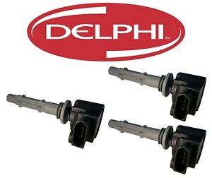 Delphi Set of 3 Ignition Coils For Dodge Sprinter 2500 Mercedes W203 S203