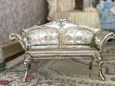 Antique Miniature Dollhouse 1:24 Scale French Sterling Silver Sofa Hallmarked