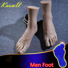 One Left Or Right Lifelike Silicone Men Legs Feet Mannequin Display Model Us
