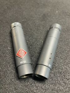 Pair of Neumann KM 100 W AK40 Capsule - Wired Professional Condenser Microphone