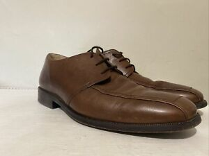 MENS CLARKS ACTIVE AIR BROWN LEATHER LACE UP SHOES SIZE UK 10 G