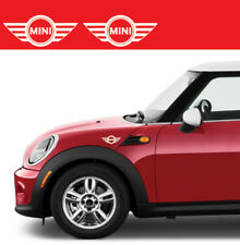 2 Adesivi auto mini cooper stickers tuning logo decal bianchi 15 x 6 cm