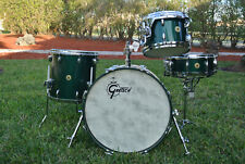 GRETSCH USA 20/12/14 + SNARE 125th ANNIVERSARY DRUM SET in CADILLAC GREEN! #E800