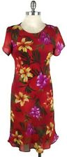 Red Floral Dress 8 Tropical Print Hawaiian Style FREE U.S. SHIPPING