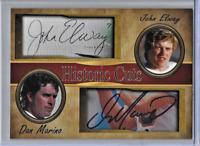 John Elway Dan Marino Historic Cuts Dual Facsimile Autographs Card