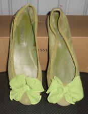 6.5 US 37 UK NWoT Womens Robert Redford Sundance Bowtie Ballet Shoes Green Suede