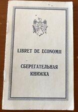savings  bank book Republic of Moldova