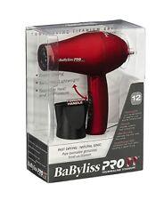BABYLISS PRO TT 1500 TOURMALINE TITANIUM IONIC RED TRAVEL HAIR BLOW DRYER 4.C2