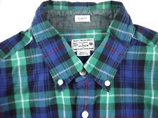 J.CREW PLAID work wear shirt mens M SLIM fit long sleeve button up front western