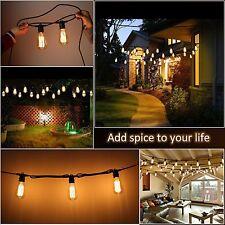 Edison Vintage 48-Ft Amber String Lights Outdoor