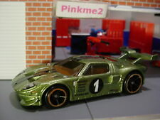 2018 Hot Wheels FORD GT LM❀olive green pearl; oh5; 1❀Multi Pack Exclusive?❀LOOSE