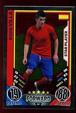 David Villa España #167 Inglaterra 2012 Match Attax TCG tarjeta (C206)