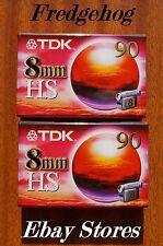 2 x QUALITY TDK P5-90HS(High Standard) 8mm/ Hi8 VIDEO CAMCORDER TAPES/ CASSETTES