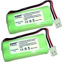 2X HQRP Phone Battery for V-TECH BT162342/BT262342 2SNAAA70HSX2F BATT-E30025CL