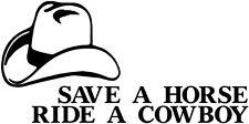 Save Horse Ride A Cowboy Vinyl decal, cowboy sticker, cowboy decal