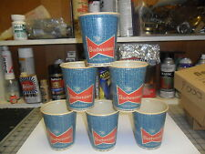 8 Vintage Budweiser  Cups Where there's life there's Budweiser 16 OZ 1955/59