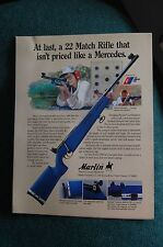 Vintage Marlin Firearms Model 2000 22 Match Rifle Advertisement