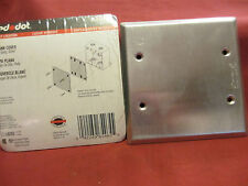 Red Dot R2CCB, S440E, LOT of 5, Blank Cover, 2 Gang, Silver, Wet Location