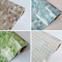 Vinyl Mosaic Effect Tile Self Adhesive Wallpaper Roll Kitchen Waterproof Sticker