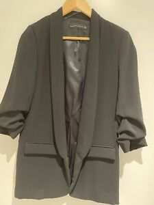 Xara Womens Black 3/4 Sleeve Blazer Size Small