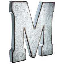 "Large 20"" Galvanized Metal Letter  WALL DECOR (Most Letters) MAN CAVE WORKSHOP"