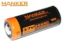 New Manker 26650 5000mAh 3.7V Protected Button Top Cell Rechargeable Battery