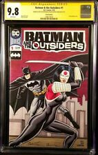 DC Comic BATMAN & OUTSIDERS #1 CGC SS 9.8 Original Art Sketch JOKER HARLEY QUINN