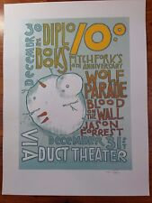 Pitchfork 10th Anniversary Wolf Parade, Diplo 2005 Poster by Jay Ryan