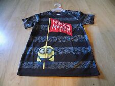 Boys Size XXL 2XL 18 Minions Gray Summer Short Sleeve Shirt Top Minion Mayhem