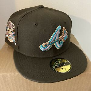 Exclusive Fitted Atlanta Braves Brownie Collection 5950 New Era Fitted SZ 7 1/8