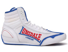 LONSDALE Contender Mens Boxing Boots White/Blue Size UK 12 US 13 EU 46 *REFCRS49