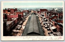 Lexington Market in Baltimore, Maryland Undivided Back Early Postcard