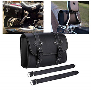 Motorcycle Saddle Bag PU Leather Tool Roll Motor Side Luggage Travel Tool Tail 2