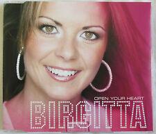 "EUROVISION : BIRGITTA - 3 TRACKS SINGLE CD ""OPEN YOUR HEART"""