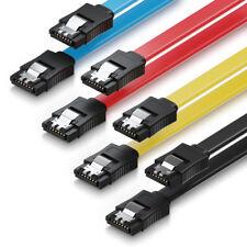 4x deleyCON 0,5m SATA 3 Datenkabel mit Clip - 2x Stecker gerade S-ATA 6Gb/s Bunt