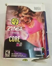 NEW Zumba Fitness Core Nintendo Wii Box Set Belt Included Complete!