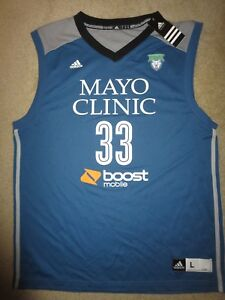 Seimone Augustus #33 Minnesota Lynx WNBA Finals adidas Jersey LG L NEW