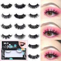 1 Pairs 3D Mink Long Natural Thick Handmade Fake False Eyelashes Eye Lashes NEW