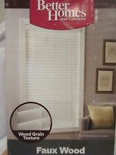 """Better Homes and Gardens 2"""" Faux Wood Finished PVC Window Blind, White 23"""" x 48"""""""