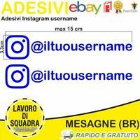 Kit 2 Adesivi Instagram username Nome Divertente Auto Adesivo Mood Style BLU