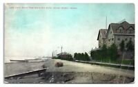 1909 Lake Shore South from South Bay Hotel, Indiana Harbor, IN Postcard *5K11