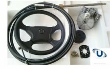 NEW  4.87m~16FT UNIVERSAL BOAT STEERING WHEEL SYSTEM QUICK CONNECT STEERING KIT