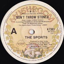 Sports ORIG OZ 45 Don't throw stones EX '79 Stephen Cummings New wave Mushroom