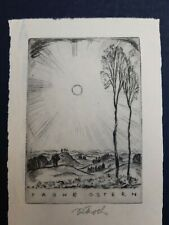 Exlibris P.F Rudolf Koch / Frohe Ostern Signed