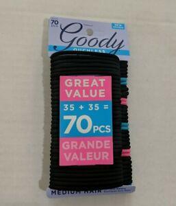 Goody Hair Ties Ouchless Elastics Black Neon 70 pcs