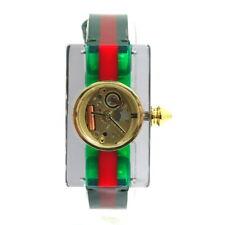 Ladies GUCCI Vintage WEB 143.5 Skeleton Dial ACRYLIC Case Swiss Quartz Watch