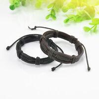 Bracelet multicouche ajustable en cuir pour Femme et Homme